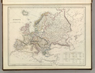 Sharpe's Corresponding Maps. Europe. Engraved by J. Wilson Lowry. London - Published by Chapman and Hall, 186 Strand, 1847. Continental Series.