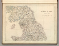 Sharpe's Corresponding Maps. England and Wales Railway Map (northern half). Engraved by J. Wilson Lowry. London - Published by Chapman and Hall, 186 Strand, 1847. Enlarged Series.