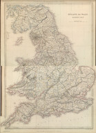 (Composite of) Sharpe's Corresponding Maps. England and Wales Railway Map. Engraved by J. Wilson Lowry. London - Published by Chapman and Hall, 186 Strand -1847. Enlarged Series.