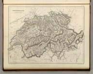 Sharpe's Corresponding Maps. Swtizerland. London - Published by Chapman and Hall, 186 Strand, 1847. Enlarged Series.