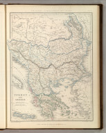 Sharpe's Corresponding Maps. Turkey and Greece. London - Published by Chapman and Hall, 186 Strand, 1847. Divisional Series.
