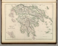 Sharpe's Corresponding Maps. Greece and the Ionian Islands. London - Published by Chapman and Hall, 186 Strand, 1847. Enlarged Series.
