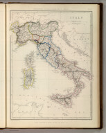 Sharpe's Corresponding Maps. Italy. London - Published by Chapman and Hall, 186 Strand, 1847. Divisional Series.