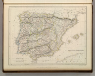Sharpe's Corresponding Maps. Spain and Portugal. London - Published by Chapman and Hall, 186 Strand, 1847. Divisional Series.