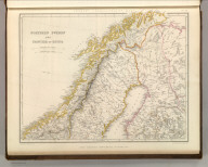 Sharpe's Corresponding Maps. Northern Sweden and Frontier of Russia. London - Published by Chapman and Hall, 186 Strand, 1847. Divisional Series.