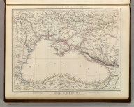 Sharpe's Corresponding Maps. Russia on the Euxine (Black Sea). London - Published by Chapman and Hall, 186 Strand, 1847. Divisional Series.