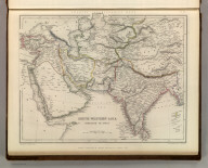 Sharpe's Corresponding Maps. South Western Asia. Overland to India. London - Published by Chapman and Hall, 186 Strand, 1848. Continental Series.