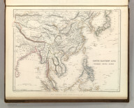 Sharpe's Corresponding Maps. South Eastern Asia. Birmah - China - Japan. London - Published by Chapman and Hall, 186 Strand, 1847. Continental Series.