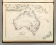 Sharpe's Corresponding Maps. Australia and New Zealand. London - Published by Chapman and Hall, 186 Strand, 1848. Continental Series.