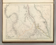 Sharpe's Corresponding Maps. Nubia and Abyssinia to Bab El Mandeb. London - Published by Chapman and Hall, 186 Strand, 1848. Divisional Series.