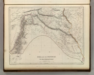 Sharpe's Corresponding Maps. Syria and the Provinces to the Persian Gulf. London - Published by Chapman and Hall, 186 Strand, 1848. Divisional Series.
