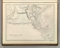 Sharpe's Corresponding Maps. Beloochistan and Sinde. London - Published by Chapman and Hall, 186 Strand, 1848. Divisional Series.