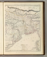Sharpe's Corresponding Maps. Bengal Etc. London - Published by Chapman and Hall, 186 Strand, 1848. Divisional Series.