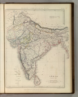 Sharpe's Corresponding Maps. India, General Map. London - Published by Chapman and Hall, 186 Strand, 1848. Intermediate Series.