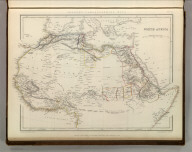 Sharpe's Corresponding Maps. North Africa. London - Published by Chapman and Hall, 186 Strand, 1848. Continental Series.