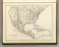 Sharpe's Corresponding Maps. Central America. London - Published by Chapman and Hall, 186 Strand, 1848. Continental Series.
