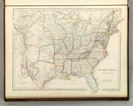 Sharpe's Corresponding Maps. United States General Map. London - Published by Chapman and Hall, 186 Strand, 1848. Intermediate Series.