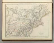 Sharpe's Corresponding Maps. United States North East. London - Published by Chapman and Hall, 186 Strand, 1848. Divisional Series.