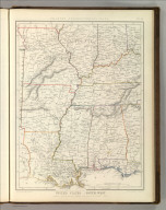 Sharpe's Corresponding Maps. United States - South West. London - Published by Chapman and Hall, 186 Strand, 1848. Divisional Series.