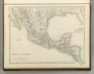 Sharpe's Corresponding Maps. Mexico and Guatemala. London - Published by Chapman and Hall, 186 Strand, 1848. Intermediate Series.
