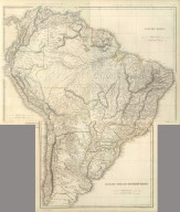 (Composite of) South America. Sharpe's Corresponding Maps. London - Published by Chapman and Hall, 186 Strand, 1848. Intermediate Series.