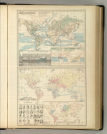 Chart of the World Exhibiting Its Chief Physical Features. Currents of the Ocean &c. Ethnographic Chart of the World Shewing (sic) the Distribution and Varieties of the Human Race. Edinburgh. Published by A. & C. Black. Constructed & Engraved by J. Bartholomew, Edinr.