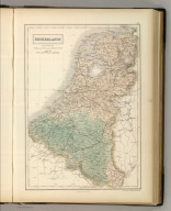 Netherlands now divided into Holland and Belgium. Edinburgh. Published by A. & C. Black. Engraved by S. Hall, Bury Strt. Bloombry.