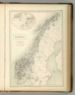 Norway. Edinburgh, Published by A. &. C. Black. Drawn under the Direction of Professor Forbes and Engraved by J. Bartholomew, Edinr.