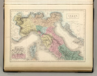 Italy, North Part. Edinburgh, Published by A. &. C. Black. Engraved by S. Hall, Bury Strt. Bloomsbry.