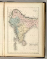 Hindustan, with Part of Caubul. Engraved by S. Hall, Bury Strt. Bloomsbry.