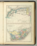 Africa, North Part. Africa South Part. Edinburgh, Published by A. &. C. Black. Engraved by S. Hall, Bury Strt. Bloomsbry.
