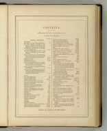 (Table of Contents to) General Atlas Of The World: Containing Upwards Of Seventy Maps. Engraved On Steel, In The First Style Of Art, By Sidney Hall, William Hughes, F.R.G.S., &c. New Edition. Embracing All The Latest Discoveries Obtained From Government Surveys And Expeditions, Books Of Recent Travel, And Other Sources, Including The North-West Passage Discovered By H.M. Ship Investigator. With Introductory Chapters On The Geography And Statistics Of The Various Countries Of The World, And A Complete Index Of 65,000 Names. Edinburgh: Adam And Charles Black, North Bridge. M.DCCC.LIV.