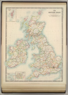 The British Isles (Political). (with) Shetland Islands. (with) Channel Islands. (with) London Metropolitan Boroughs. Keith Johnston's General Atlas. May 1911. Engraved, Printed, and Published by W. & A.K. Johnston, Limited, Edinburgh & London.