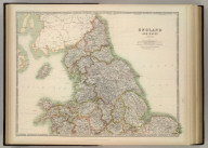 England and Wales (northern sheet). Keith Johnston's General Atlas. Aug. 1910. Engraved, Printed, and Published by W. & A.K. Johnston, Limited, Edinburgh & London.