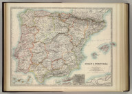 Spain & Portugal. (with) Canary Islands. (with) Madeira. (with) Lisbon. (with) Madrid. Keith Johnston's General Atlas. May, 1911. Engraved, Printed, and Published by W. & A.K. Johnston, Limited, Edinburgh & London.
