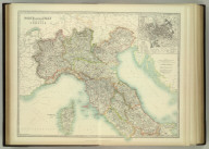 North & Central Italy and the Island of Corsica. (with) Environs of Rome. Keith Johnston's General Atlas. Sept. 1911. Engraved, Printed, and Published by W. & A.K. Johnston, Limited, Edinburgh & London.