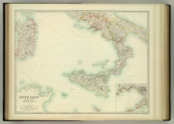 South Italy and the Island of Sardinia. (with) Naples and Capri. Keith Johnston's General Atlas. Sept. 1911. Engraved, Printed, and Published by W. & A.K. Johnston, Limited, Edinburgh & London.
