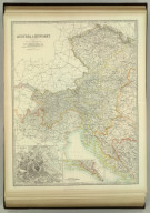 Austria & Hungary (western sheet). (with) Vienna. (with) Continuation of Dalmatia & Herzegovina. Keith Johnston's General Atlas. Apr. 1912. Engraved, Printed, and Published by W. & A.K. Johnston, Limited, Edinburgh & London.