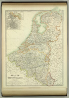 Belgium and the Netherlands. (with) Amsterdam. (with) Brussels. Keith Johnston's General Atlas. Aug. 1911. Engraved, Printed, and Published by W. & A.K. Johnston, Limited, Edinburgh & London.