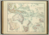 Oceania. (with) Western Australia. (with) Tasmania. (with) Viti or Fiji Islands. (with) Eastern Extremity of New Guinea. Keith Johnston's General Atlas. March 1912. Engraved, Printed, and Published by W. & A.K. Johnston, Limited, Edinburgh & London.