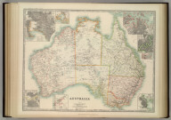 Australia. (with) Melbourne. (with) Port Phillip. (with) Adelaide. (with) Perth. (with) Hobart. (with) Port Jackson. (with) Brisbane. (with) Sydney and Environs. Keith Johnston's General Atlas. Dec. 1911. Engraved, Printed, and Published by W. & A.K. Johnston, Limited, Edinburgh & London.