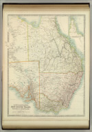 South Australia, New South Wales, Victoria & Queensland. (with) Continuation to Cape York Pena. Keith Johnston's General Atlas. May 1912. Engraved, Printed, and Published by W. & A.K. Johnston, Limited, Edinburgh & London.