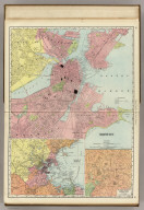 Rand, McNally & Co.'s Boston. (with) Environs of Boston. (with) Business Portion of Boston.