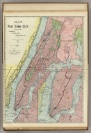 Rand, McNally & Co.'s New York City. (with) Business Portions of New York City.