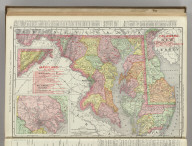 Rand, McNally & Co.'s Maryland, D.C. and Delaware. (with) Baltimore and Environs.