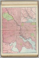 Rand, McNally & Co.'s Baltimore. (with) Map of Baltimore and Environs.