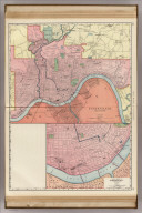 Rand, McNally & Co.'s Cincinnati and Environs (with) Business Portion of Cincinnati on Enlarged Scale.