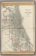 Rand, McNally & Co.'s Street Guide Map of Chicago and Suburbs, Showing the City Limits.