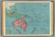 Rand, McNally & Co.'s Oceania and Malaysia. (with) New Caledonia and Loyalty Islands. (with) Hawaii (Sandwich Islands). (with) Eastern Portion of Polynesia.