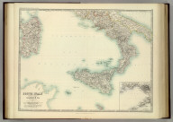 South Italy and the Island of Sardinia. (with) Naples and Capri. By Keith Johnston, F.R.S.E. Keith Johnston's General Atlas. Engraved, Printed, and Published by W. & A.K. Johnston, Edinburgh & London.